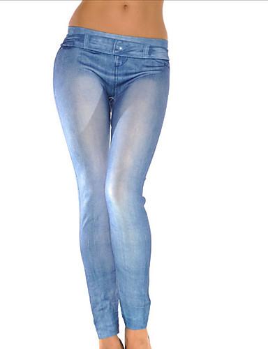 597cf400da2 Dámské Punčochy   legíny Vypasovaný Džíny Kalhoty Jednobarevné Nízký pas  5348356 2019 –  9.44