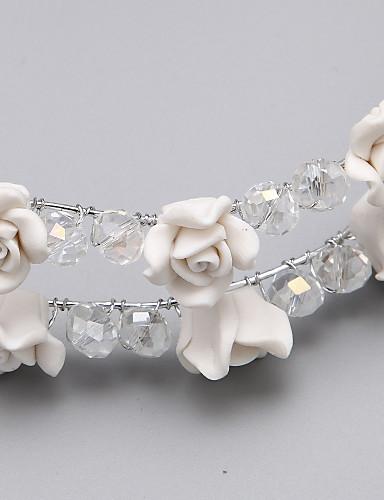 preiswerte Schmuck Ausverkauf-Harzlegierungsblumen-Kopfstückhochzeits-Party elegante weibliche Art
