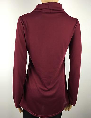billige T-skjorter til damer-T-skjorte Dame - Ensfarget, Rynket Gatemote Grå / Vår / Høst