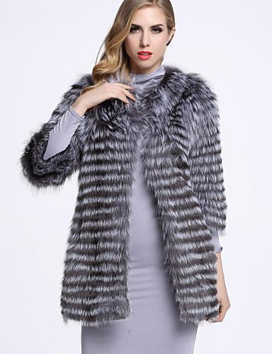 Un Mujer Casualdiario Piel De Abrigo Color Sofisticado cuello EBq4OzBUxw