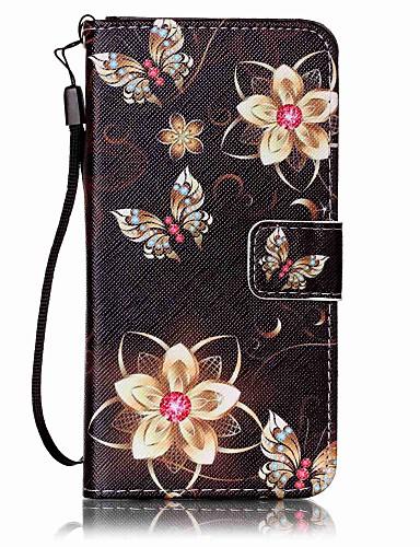 Case สำหรับ Samsung Galaxy J7 (2016) / J5 (2016) / J5 Wallet / Card Holder ตัวกระเป๋าเต็ม Butterfly Hard หนัง PU