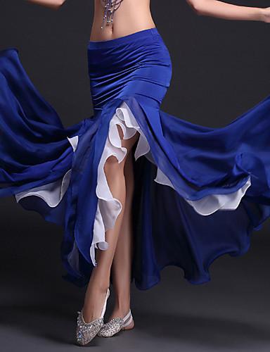 levne Shall We®-Břišní tanec tutu a sukně Dámské Výkon Polyester / Süt Filtresi Volány Přírodní Sukně