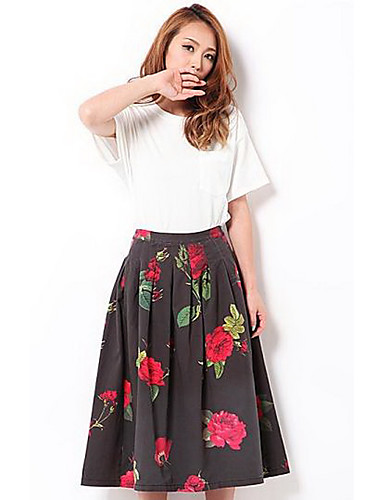 Women s Going out Daily Midi Skirts 5462232 2018 –  25.29 d23ba0b4513