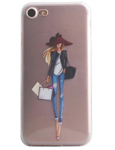 Case สำหรับ Apple iPhone 7 Plus / iPhone 7 / iPhone 6s Plus Pattern ปกหลัง Sexy Lady Soft TPU