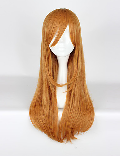 povoljno Anime cosplay-Ljubav uživo Cosplay Cosplay Wigs Muškarci Žene 30 inch Otporna na toplinu vlakna žuta Anime