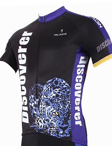 povoljno Biciklističke majice-ILPALADINO Muškarci Kratkih rukava Biciklistička majica Leopard Životinja Bicikl Biciklistička majica Majice Brdski biciklizam biciklom na cesti Prozračnost Quick dry Ultraviolet Resistant Sportski