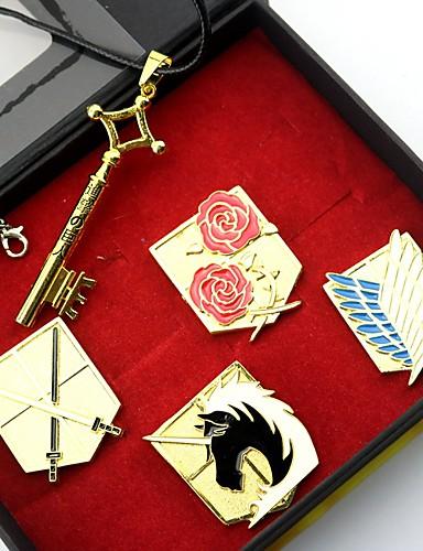 povoljno Anime cosplay-Badge More Accessories Inspirirana Napad na Titanu Eren Jager Anime Cosplay Pribor Ogrlice Značka Legura Noć vještica