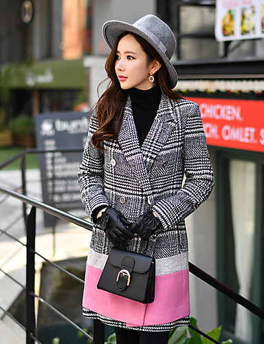 preiswerte Ausverkauf-DABUWAWA® Mantel Draussen zum Frühling & Herbst Winter Jacken & Mäntel Oberbekleidung Bekleidung / Lang / Arbeit