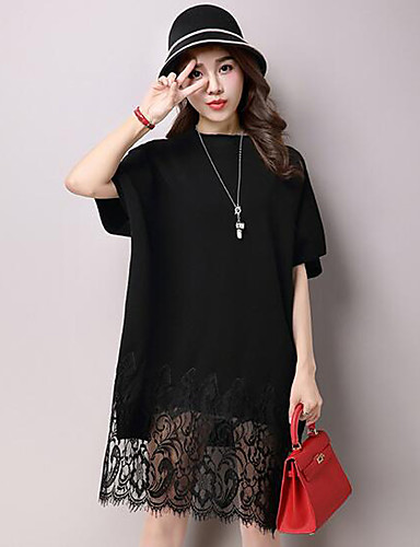 3e5dbdd6c121 Γυναικείο Καθημερινά Απλό Δαντέλα Πλεκτά Φόρεμα
