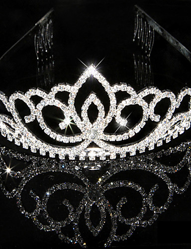 cheap Women's Clothing-Women's Rhinestone Crystal Headpiece-Wedding Special Occasion Tiaras