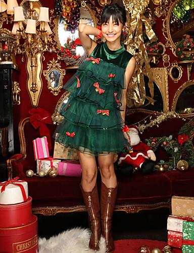 preiswerte Weihnachtskostüme-Santa Anzüge / Uniformen Cosplay Kostüme Sexy Uniformen Damen Terylen Cosplay Accessoires Weihnachten / Karneval / Silvester Kostüme