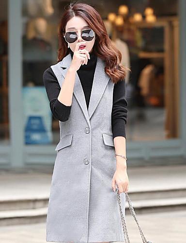 Γυναικεία Παλτό Καθημερινά Απλό Μονόχρωμο 71332de62dd