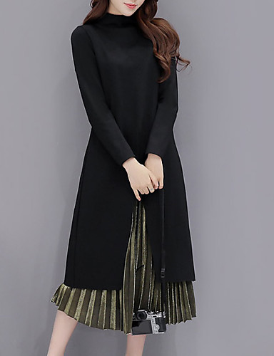 04d3839bfdb7 Γυναικεία Κομψό στυλ street   Εκλεπτυσμένο Φαρδιά Φόρεμα - Μονόχρωμο ...