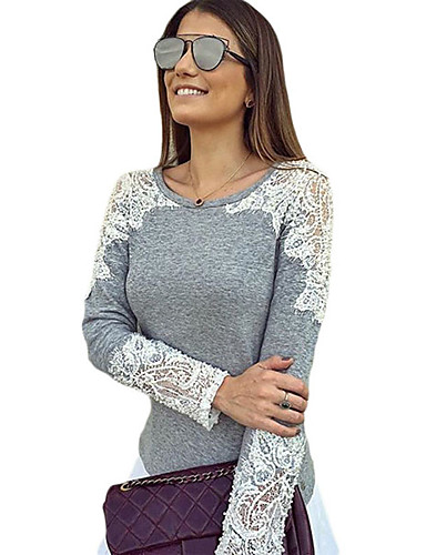 43a5f8aa8db Women s Plus Size Polyester Spandex T-shirt - Solid