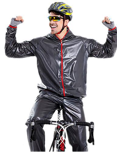povoljno Odjeća za vožnju biciklom-Muškarci Žene Dugih rukava Biciklistička jakna s hlačama Crn Zelen Plava Jedna barva Bicikl Sportska odijela Vodootporno Vjetronepropusnost Zima Sportski Jedna barva Brdski biciklizam biciklom na