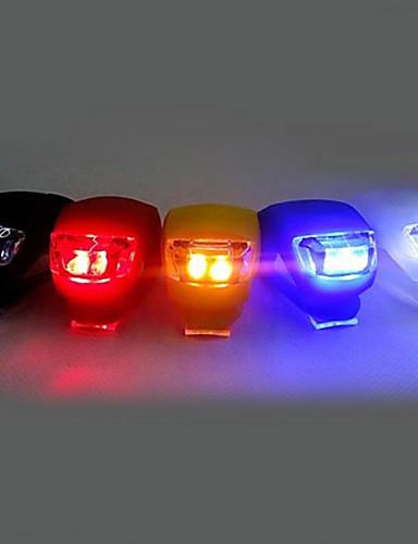 billige Sykkellys og reflekser-LED Sykkellykter Frontlys til sykkel Baklys til sykkel Silikonbike Light Fjellsykling Sykkel Sykling Verneutstyr Klemme Liten størrelse Lomme Cellebatterier Batteri Sykling Multifunktion / IPX-4