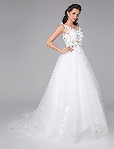 b47d90e6d676 μπάλα φόρεμα σέσουλα λαιμό δικαστήριο τρέλο γαμήλιο φόρεμα με beading από  κεντημένο νυφικό 5404702 2019 –  199.99