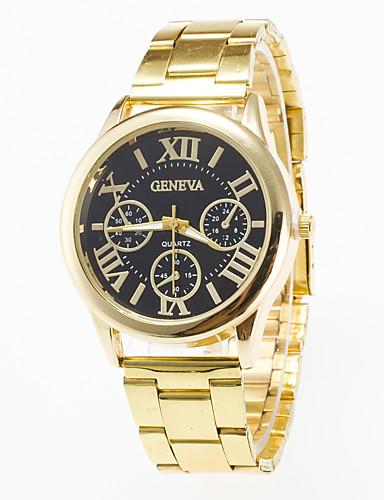 สำหรับผู้ชาย นาฬิกาข้อมือ นาฬิกาอิเล็กทรอนิกส์ (Quartz) สแตนเลส ทอง นาฬิกาใส่ลำลอง / ระบบอนาล็อก ไม่เป็นทางการ - ขาว สีดำ หนึ่งปี อายุการใช้งานแบตเตอรี่ / Jinli 377