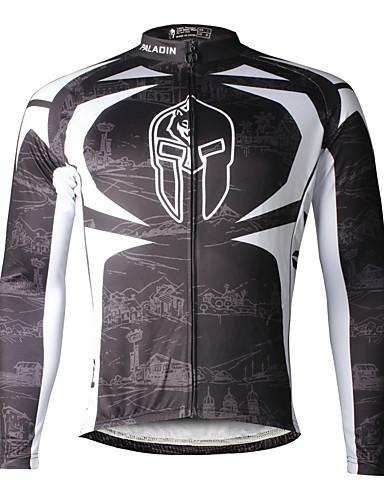 povoljno Biciklističke majice-ILPALADINO Muškarci Dugih rukava Biciklistička majica Skeleton Bicikl Biciklistička majica Majice Brdski biciklizam biciklom na cesti Prozračnost Quick dry Ultraviolet Resistant Sportski 100
