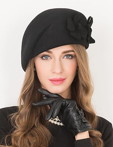 preiswerte Damenhüte-Wolle Kentucky Derby-Hut / Hüte mit 1 Hochzeit / Besondere Anlässe / Normal Kopfschmuck