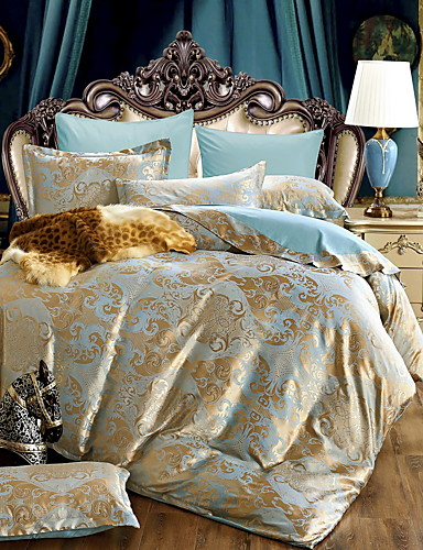 preiswerte Schlafzimmer-Bettbezug-Sets Luxus Polyester / Baumwolle Jacquard 4 StückBedding Sets / 300