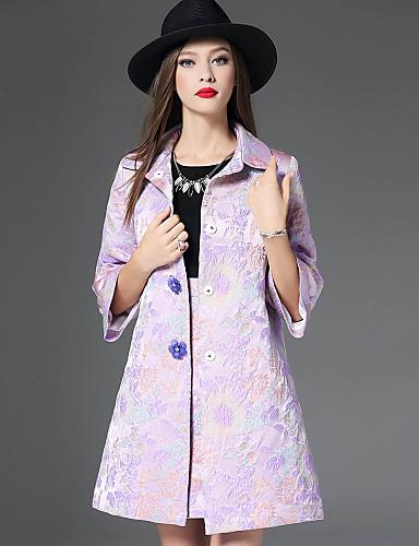 Γυναικεία Παλτό Καθημερινά Κινεζικό στυλ Ζακάρ 0c39a2cd285