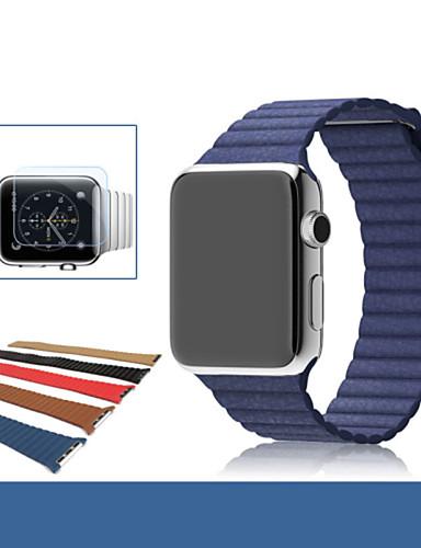 Klokkerem til Apple Watch Series 5/4/3/2/1 Apple Lærrem Ekte lær Håndleddsrem