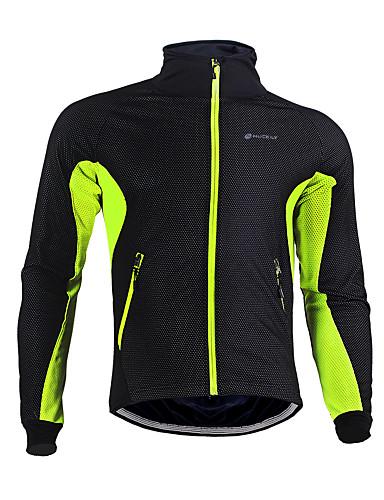 Men/'s Winter Fleece Cycling Jersey Thermal Biking Jersey Shirt Blue Green Red