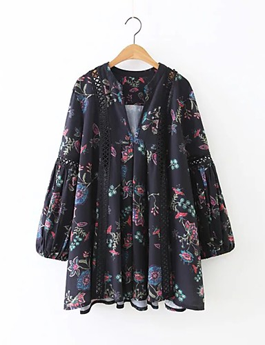 a44f879ef Women's Boho Daily Going out Street chic Sheath Dress - Floral V Neck Fall  Black S M L 5481444 2019 – $44.54
