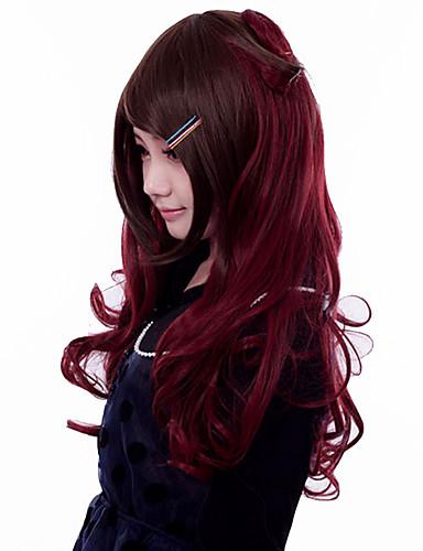 levne Cosplay paruky-Cosplay Paruky Dámské 24 inch Horkuvzdorné vlákno Hnědá Hnědá Anime
