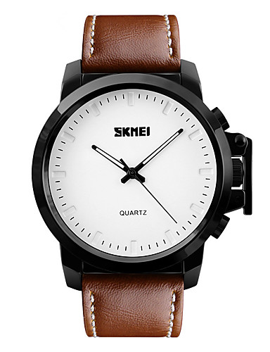 ce38b2b26994 SKMEI Hombre Reloj de Vestir Reloj de Moda Reloj de Pulsera Cuarzo  Resistente al Agua Esfera Grande Piel Banda Cool Negro Marrón 5486566 2019  –  11.99