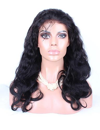 povoljno Perike s ljudskom kosom-Ljudska kosa Lace Front Perika stil Brazilska kosa Ravan kroj Tijelo Wave Perika Žene Kratko Srednja dužina Dug Perike s ljudskom kosom