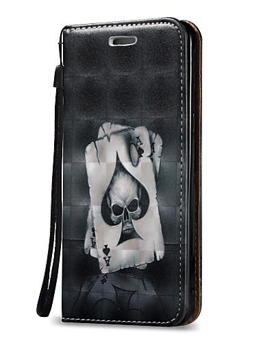 Case สำหรับ Samsung Galaxy On 5 / J7 (2016) / J7 Wallet / Card Holder / Flip ตัวกระเป๋าเต็ม กระโหลก Hard หนัง PU