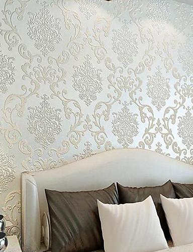 baratos Sala-Art Deco Decoração para casa Clássico Revestimento de paredes, Papel não tecido Material adesivo necessário papel de parede, Cobertura