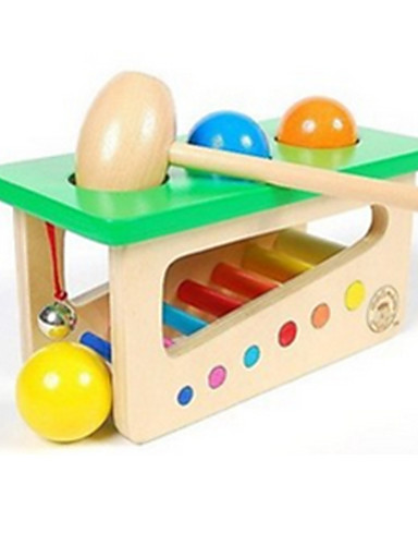 cheap Baby & Toddler Toys-Hammering / Pounding Toy Educational Toy Baby & Toddler Toy Novelty Education Wooden Wood For Kid's Boys' Girls' 1 pcs