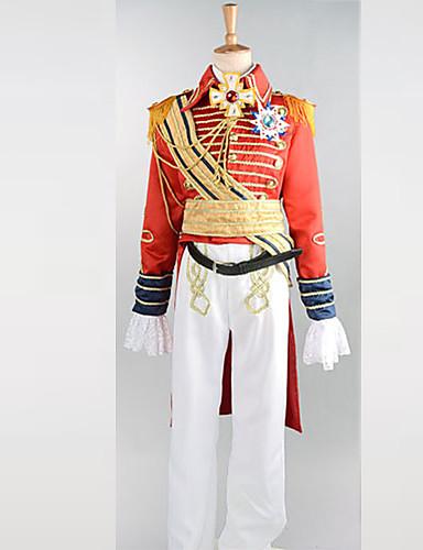 preiswerte Karriere Uniformen-Herrn Jungen Soldat / Krieger Karriere Kostüme Prince Charming Cosplay Kostüme Party Kostüme Patchwork Mantel Hosen Gürtel / Umhang / Satin