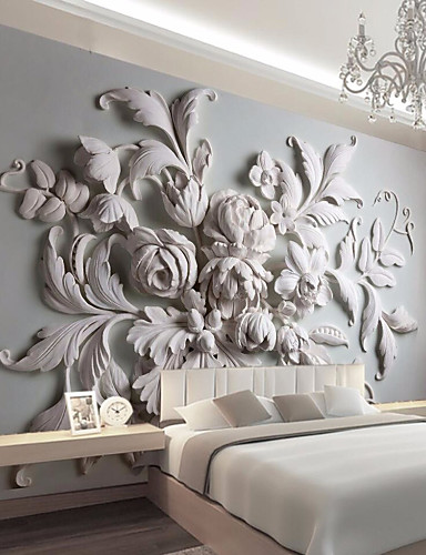 cheap 11.11 - Wallpapers Best Sale-Large Floral Removable Peel and Stick Wallpaper Wall Mural Self Adhesive Wallpaper 3D Art Décor Wall Covering