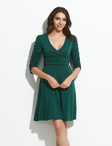 b91a8b570579 Γυναικείο Επίσημα Δουλειά Πάρτι Κοκτέιλ Σέξι Απλό Κομψό στυλ street Θήκη  Φόρεμα