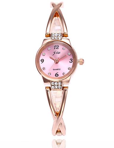 สำหรับผู้หญิง นาฬิกาแฟชั่น นาฬิกาตกแต่งข้อมือ นาฬิกาดิจิตอล นาฬิกาอิเล็กทรอนิกส์ (Quartz) ดิจิตอล สแตนเลส เงิน / ทอง 30 m ระบบอนาล็อก เสน่ห์ ไม่เป็นทางการ - White / Silver Silver / Red Gold / Red