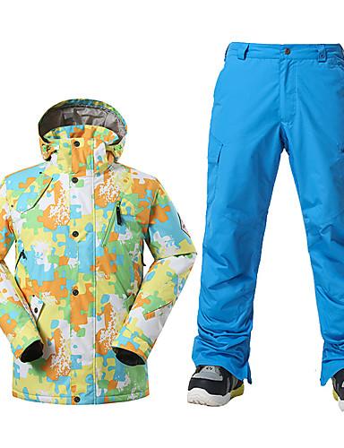 preiswerte Ski, Snowboard Bekleidung-GSOU SNOW Herrn Skijacken & Hosen warm halten Wasserdicht Windundurchlässig Skifahren Winter Sport Polyester Sportkleidung Skikleidung / Atmungsaktiv / Atmungsaktiv