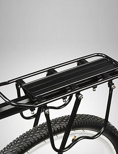 hesapli yaz indirimi-Bisiklet Kargo Rafı Arka raf Maksimum Yük 50 kg Ayarlanabilir Kolay Takılabilen Alüminyum alaşımı Dağ Bisikleti - Siyah