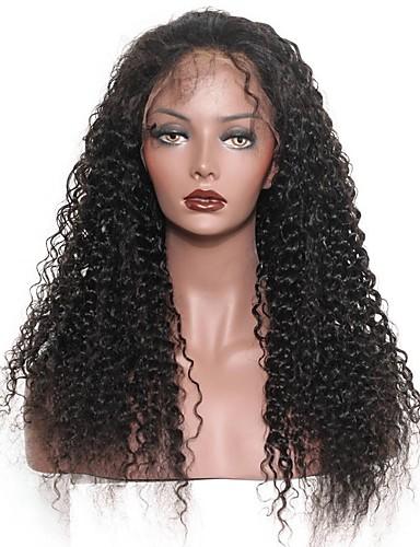 povoljno Perike s ljudskom kosom-Ljudska kosa Netretirana  ljudske kose Perika s prednjom čipkom bez ljepila Lace Front Perika stil Brazilska kosa Duboko Val Perika 120% Gustoća kose 8-24 inch s dječjom kosom Prirodna linija za kosu