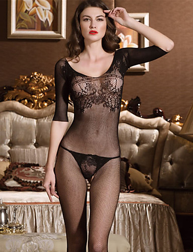 0a9a97402 Women s Plus Size Gartered Lingerie   Lace Lingerie   Ultra Sexy Nightwear  - Mesh Solid Colored   Teddy 2771685 2019 –  6.00