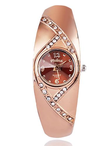 สำหรับผู้หญิง นาฬิกาแฟชั่น นาฬิกาข้อมือ นาฬิกาเพชร นาฬิกาอิเล็กทรอนิกส์ (Quartz) เคลือบทองคำสีกุหลาบ น้ำตาล / Rose Gold เลียนแบบเพชร / ระบบอนาล็อก สุภาพสตรี ไม่เป็นทางการ สง่างาม - Rose Gold