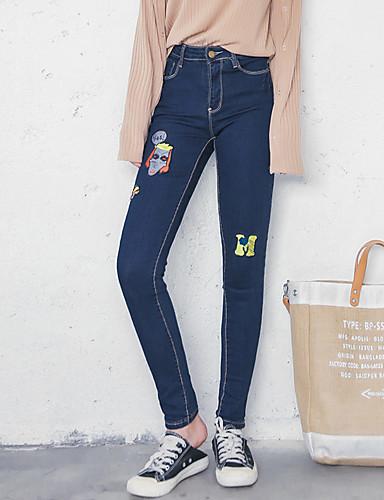 a59331ea071eb la señal de nuevo las mujeres bordan los pantalones vaqueros adelgazan los  pantalones perceptiblemente finos 5551394 2019 –  15.74
