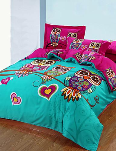 preiswerte Schlafzimmer-Bettbezug-Sets 3D Baumwolle Reaktivdruck 3 StückBedding Sets / >800