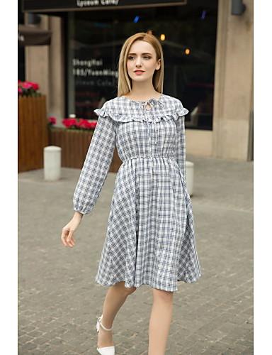 c33daacd9b Mujer Vaina Vestido Noche Casual Diario Simple Chic de Calle