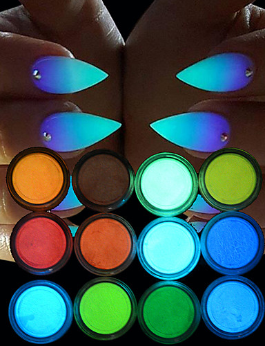 povoljno Alati za šminku-12pcs Blistati Za Svjetleći / 12 boja nail art Manikura Pedikura Chic & Moderna Party / večernja odjeća / Dnevno
