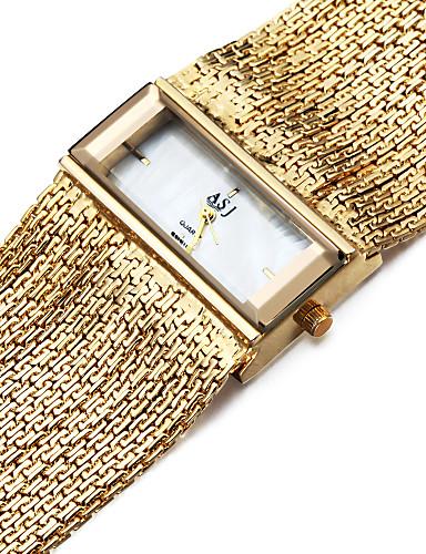 preiswerte ASJ®-ASJ Damen Uhr Armband-Uhr Goldene Uhr Quadratische Uhr Japanisch Quartz Kupfer Silber 30 m Wasserdicht Schockresistent Analog damas Charme Freizeit Silber Gold / Ein Jahr / Ein Jahr