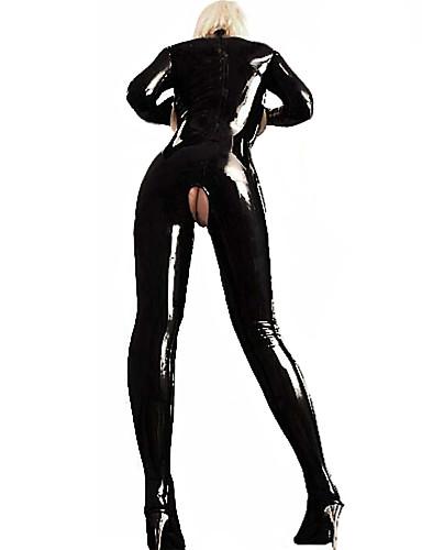 cheap Sexy Can't Wait!-Women's Plus Size Ultra Sexy / Bodysuits Nightwear Club Solid Colored Black XXL XXXL XXXXL